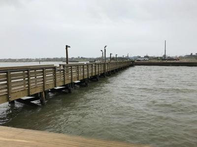 Fishing pier at Bayfront Peninsula Park in Port Lavaca