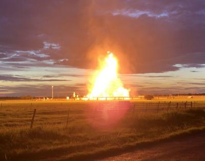 Karnes County natural gas facility burns just before dawn