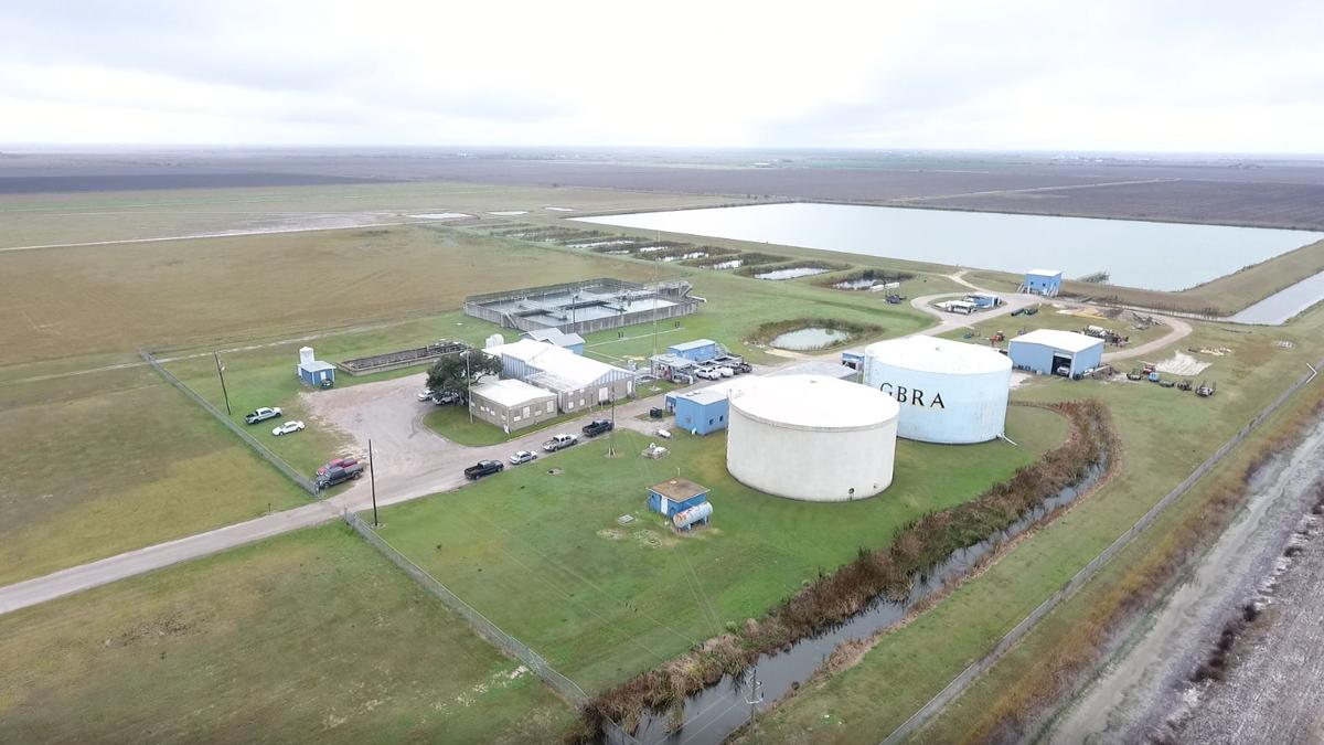 Aerial photo of water treatment plant