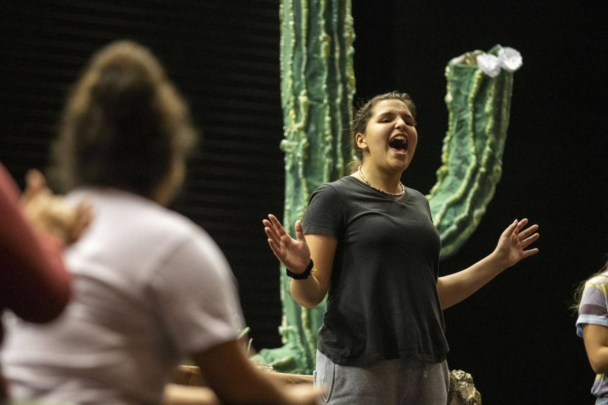 'Las Soldaderas' rehearsal
