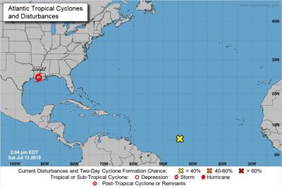 Tropical Storm Barry makes landfall in Lousiana