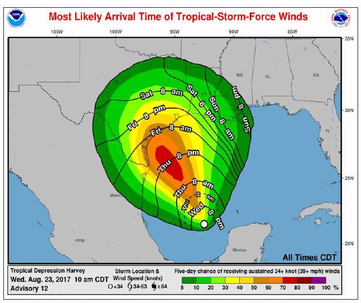 Latest weather update on Harvey w video