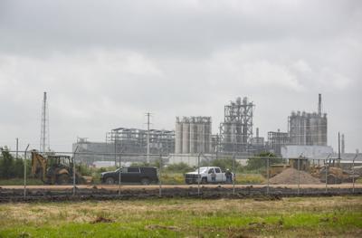 Contractors build road and railway at Formosa Plastics