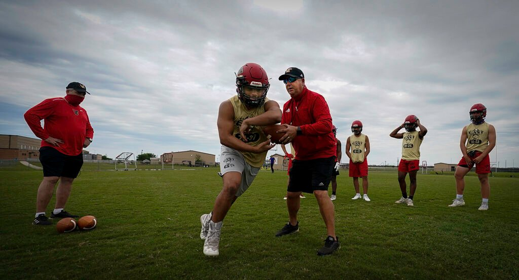 Victoria East Spring Football Practice