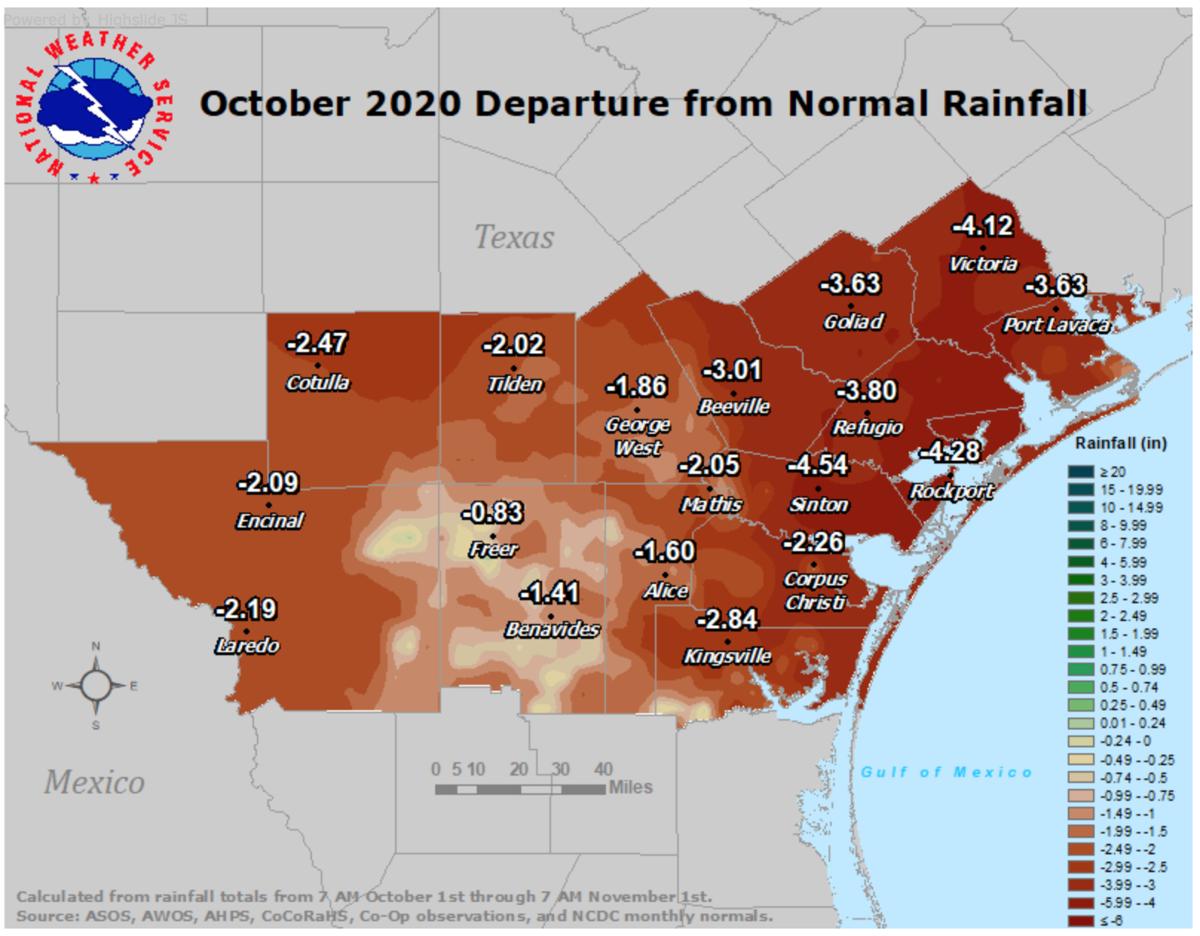 Observed rainfall October 2020