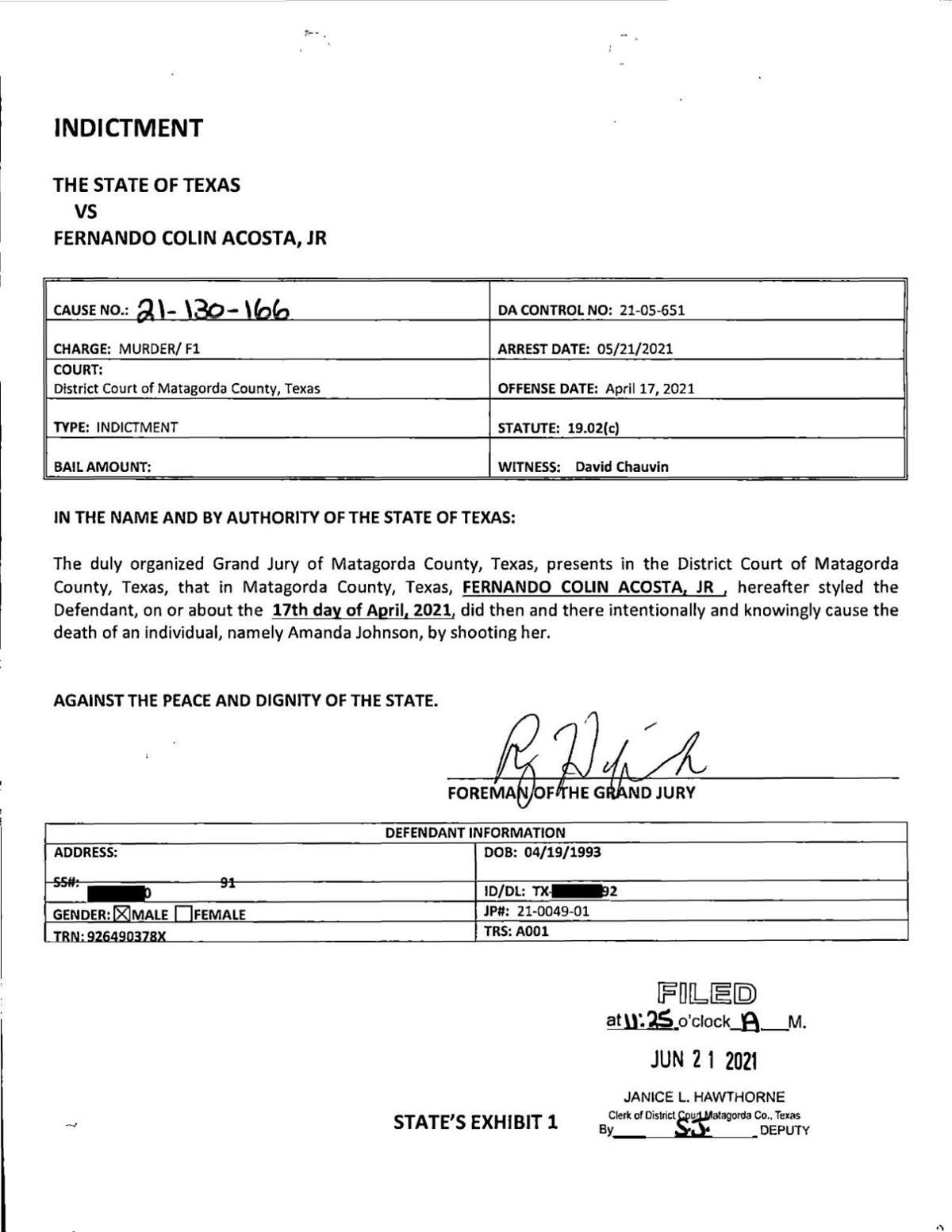 Fernando Acosta Indictment