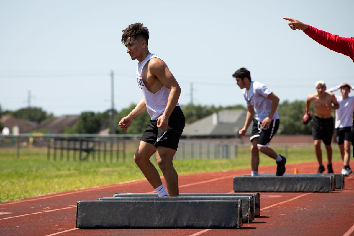 East starts conditioning workouts with football players