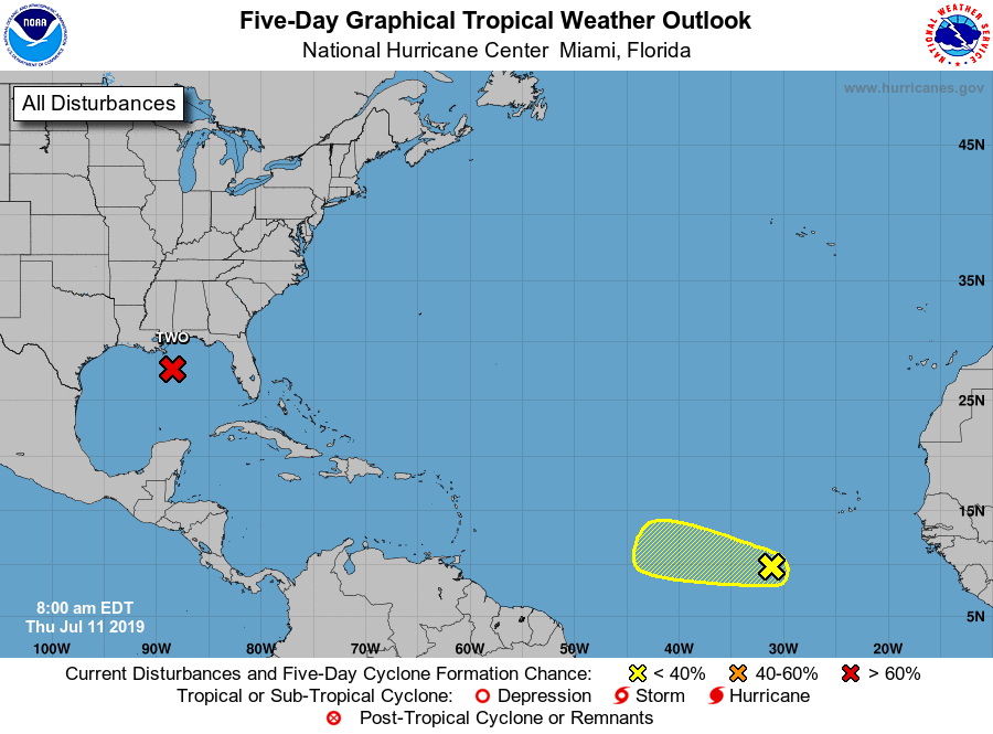 Meteorologists are tracking two potential tropical depressions