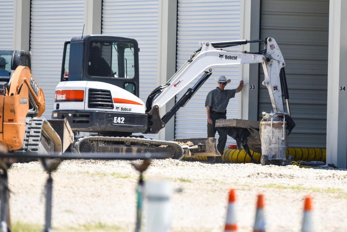 Investigators excavate foundation of Port O'Connor storage