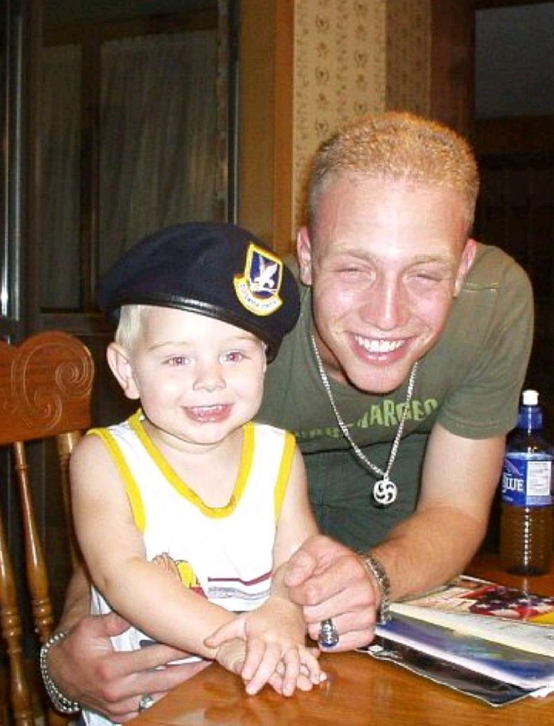 Jarrett Parker with his younger brother