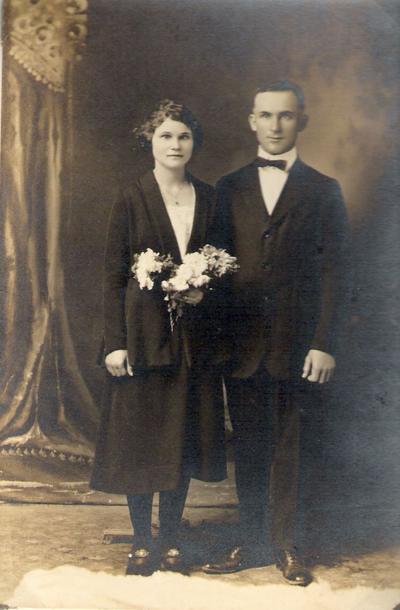 "My history: Adolph Carl and Anna Ella ""Annie"" Kimmel Schroeder Wedding"
