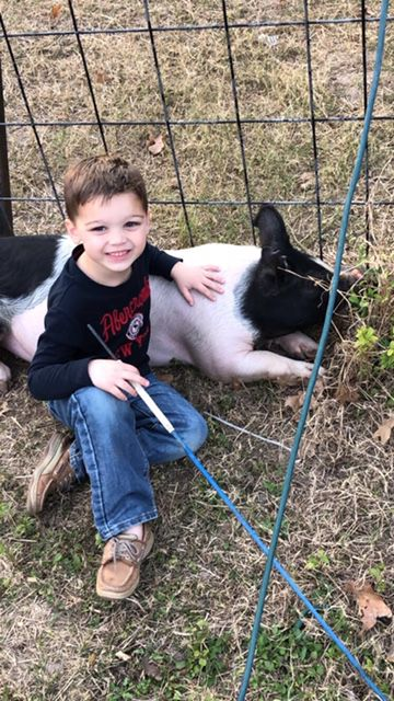 First-time Pee Wee hog exhibitor