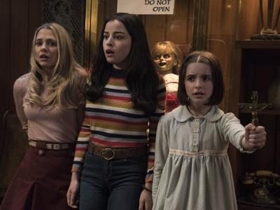 Madison Iseman, Katie Sarife, and McKenna Grace star in 'Annabelle Comes Home'