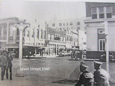 """Victoria's Main Street, 1940s, from """"Historic Victoria, An Illustrated History."""""""