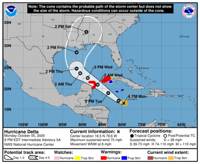 Hurricane Delta forms