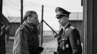 Milan Peschel and Max Hubacher in a scene from 'The Captain'
