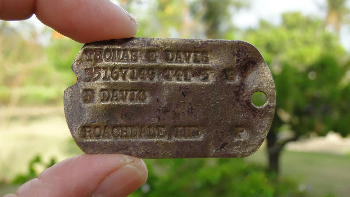 WWII vet's dog tag returned