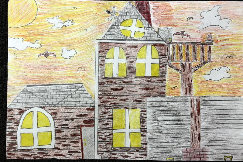 students draw dream homes in contest sponsored by