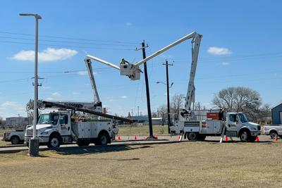 Power outage reported in Victoria after car hits utility pole, driver arrested on DWI charge