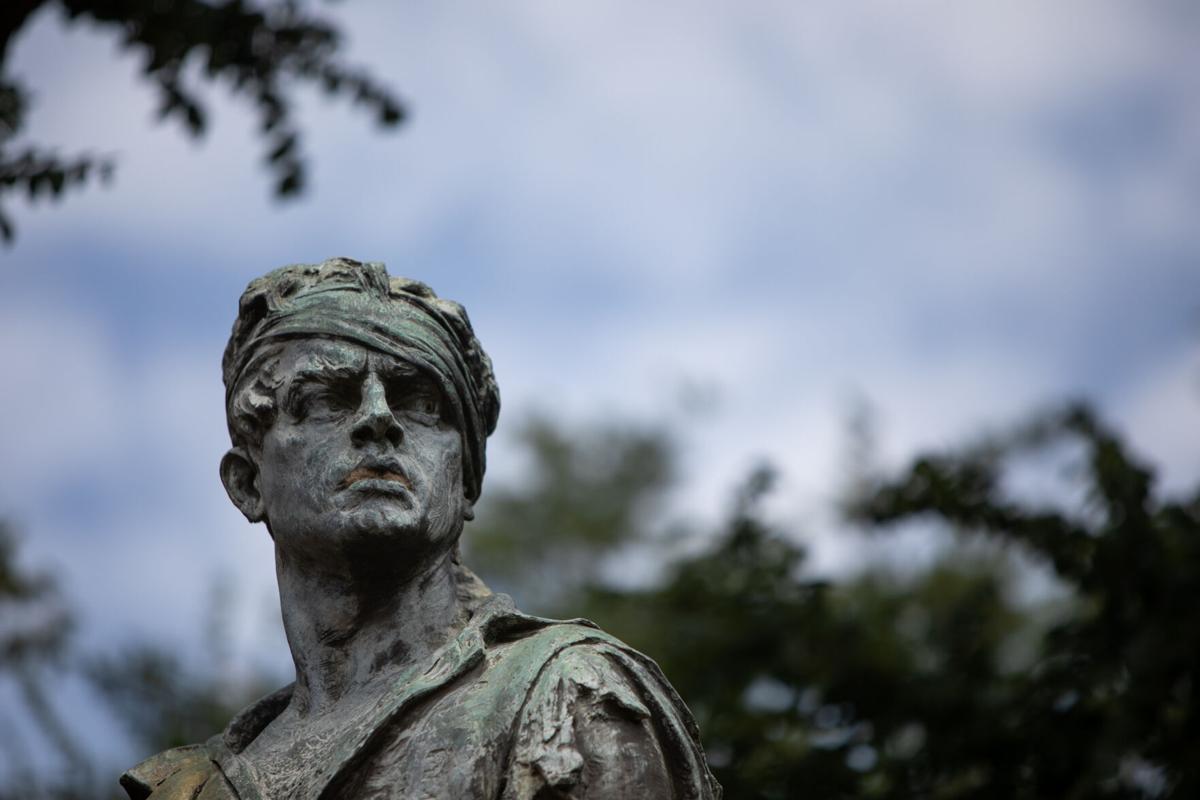 Confederate statue on De Leon Plaza