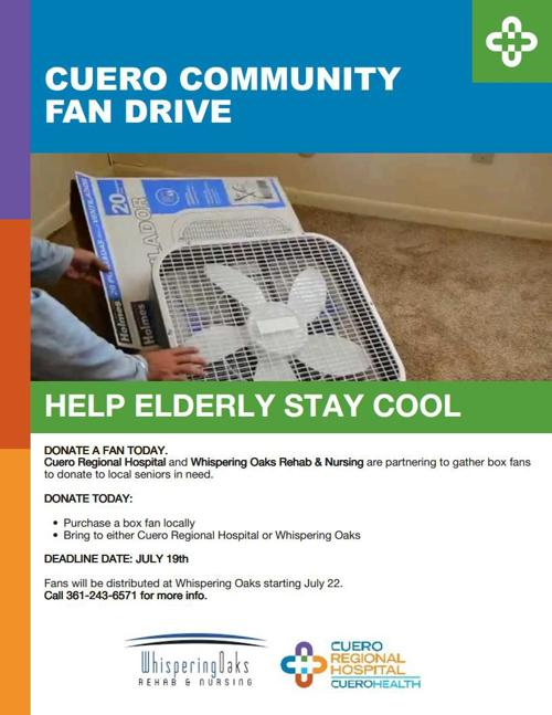 Cuero Health: Cuero Community Fan Drive kicks off | DeWitt