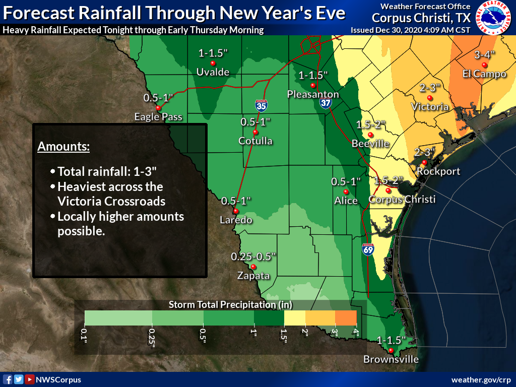 Scattered thunderstorms, heavy rain expected Wednesday into Thursday
