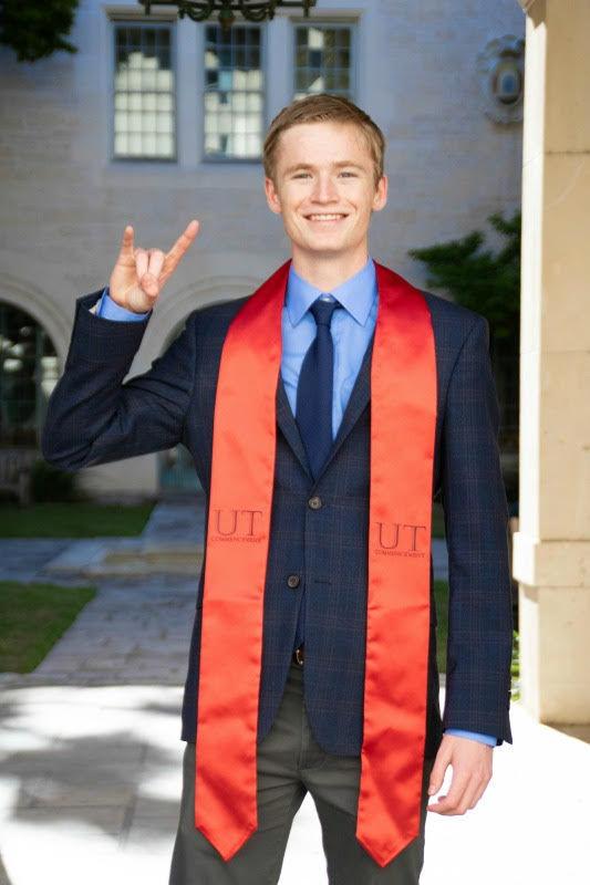 Paul strikes hook 'em post for UT graduation