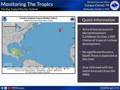 Possibility of tropical storm formation increases
