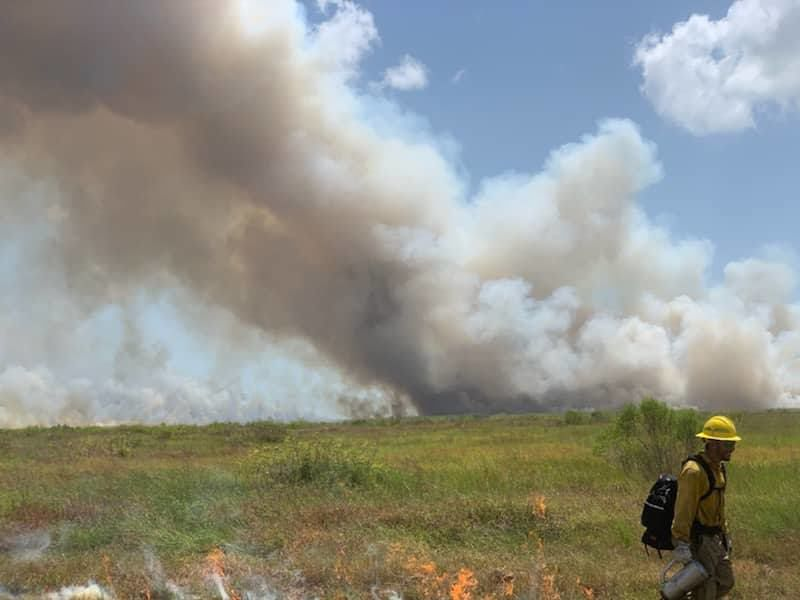Controlled burn likely contributed smoke in Crossroads