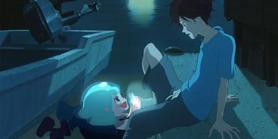 A scene from the animated GKIDS release 'Lu Over the Wall'