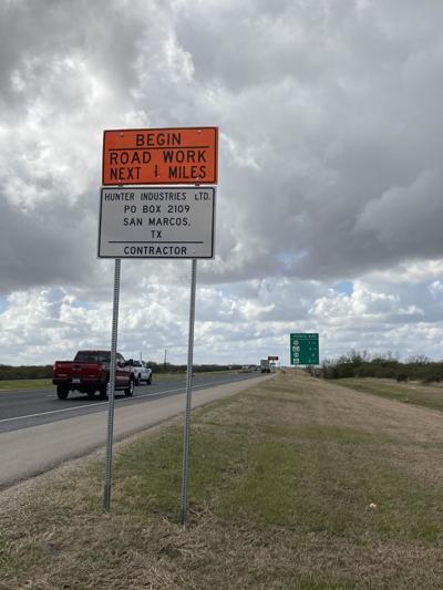 Road work on U.S. 59
