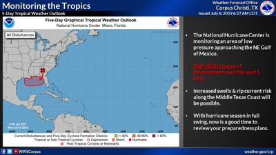 Low pressure area likely to form tropical system