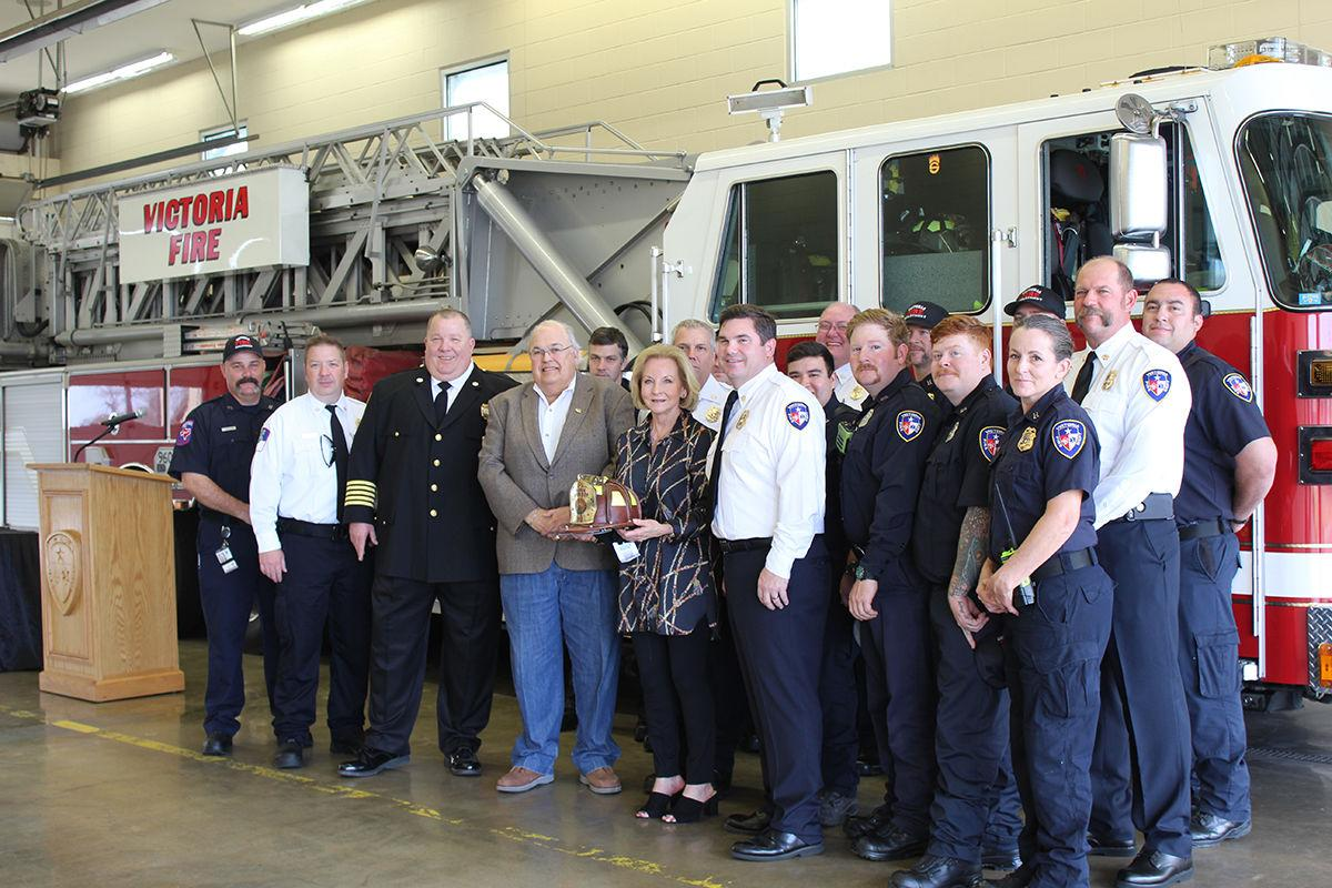 Texas Fire Chiefs Association honors Geanie Morrison