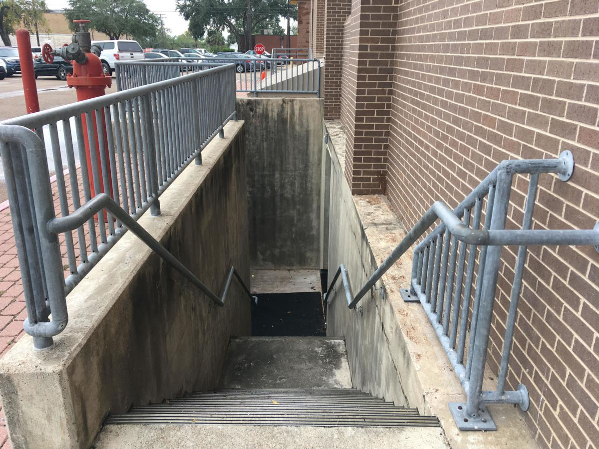 Victoria County emergency operations center stairs