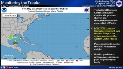 Gulf system has low chance of development