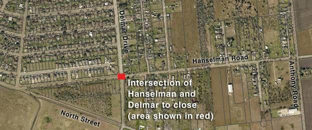 Hanselman Road, Delmar Drive intersection closed Tuesday