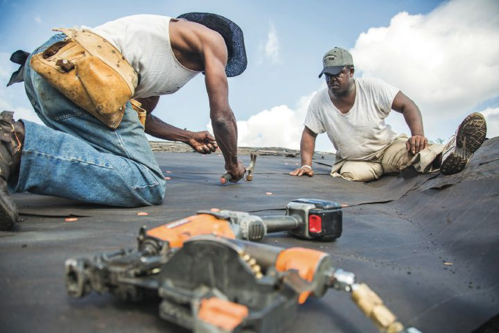 Re-roofing permits increase sharply after Harvey