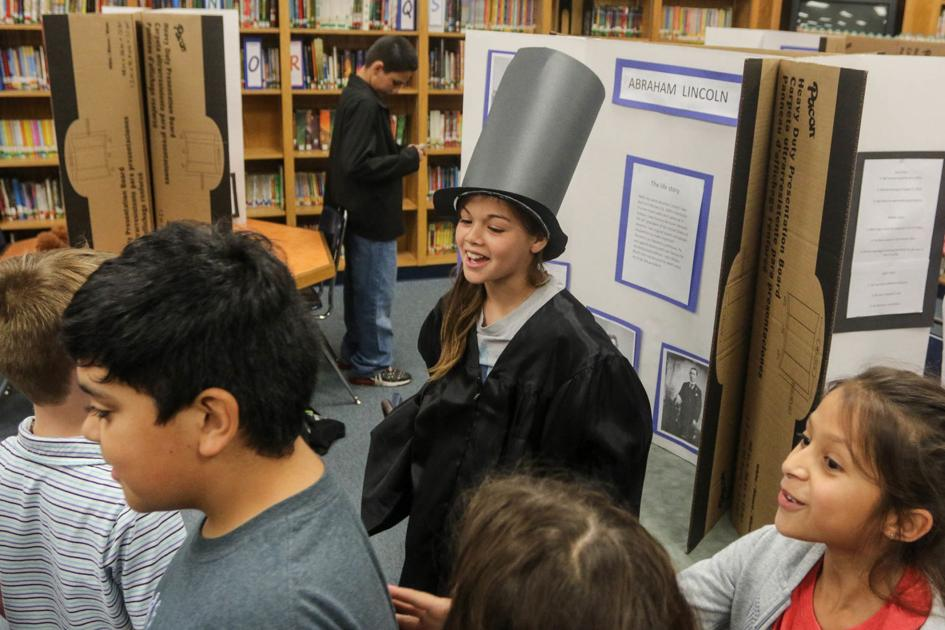 Rowland students create their own live wax museum