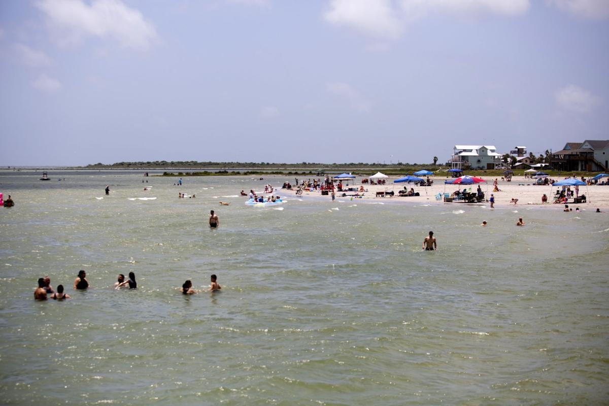 King Fisher Beach crowd