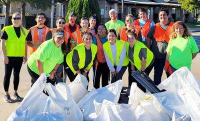 VC Respiratory Care Program students participate in Fall Sweep cleanup efforts