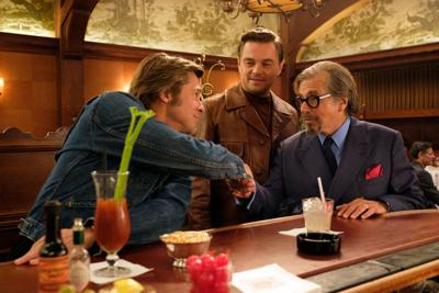 Brad Pitt, Leonardo DiCaprio, and Al Pacino in 'Once Upon a Time... In Hollywood'