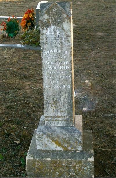 "My history: Mary Ann ""Polly"" Baggett Lantrip Headstone"