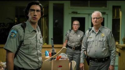 Adam Driver, Chloë Sevigny, and Bill Murray in a scene from 'The Dead Don't Die'