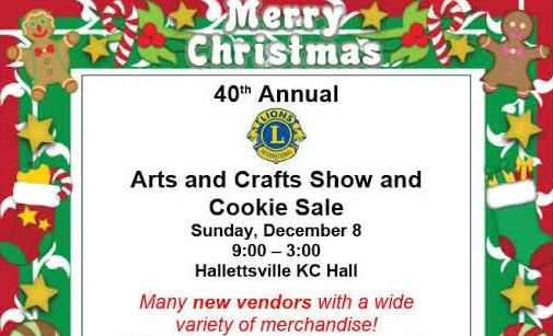 Hallettsvile arts and crafts show