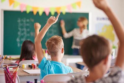 Generic School: kids in classroom