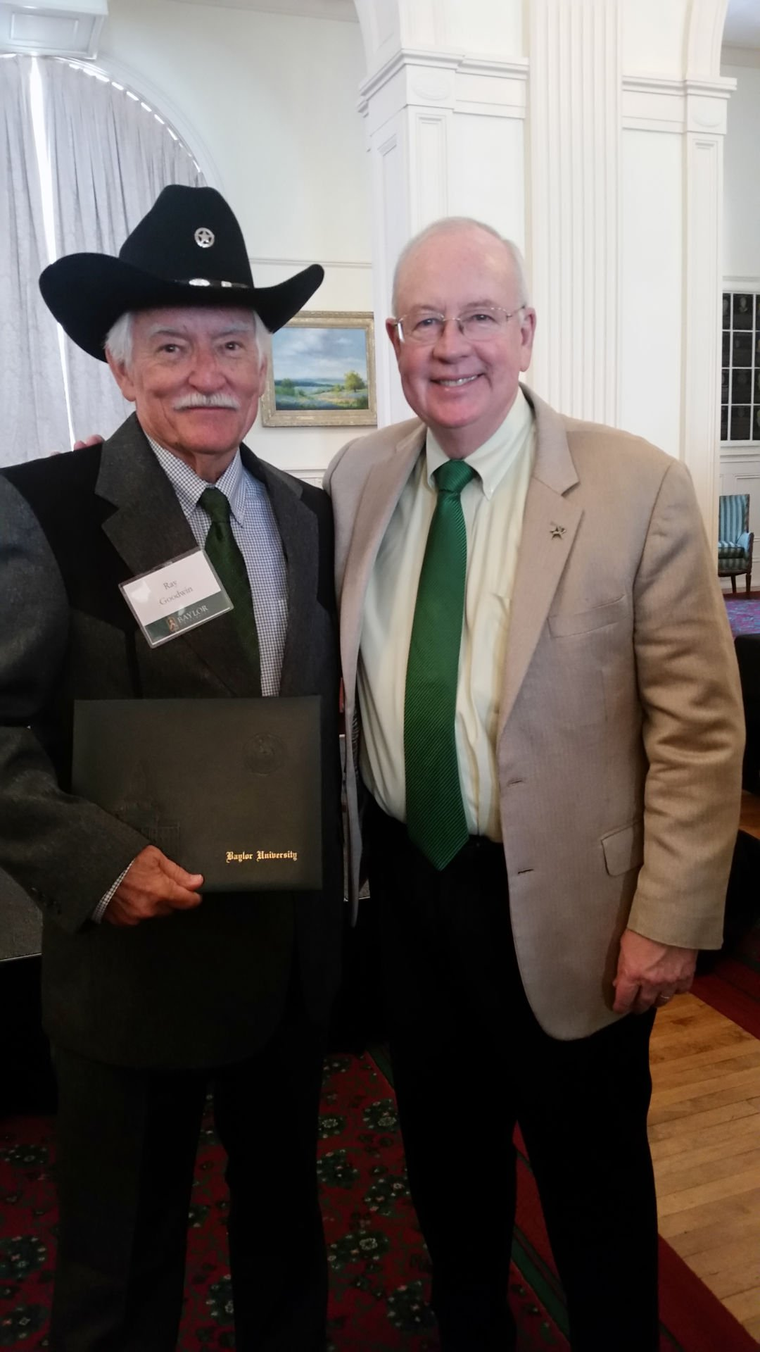Victoria resident awarded Baylor degree replica
