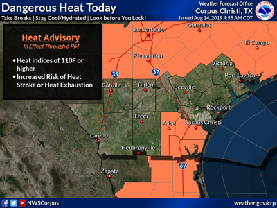 Heat advisory in effect for Crossroads areas