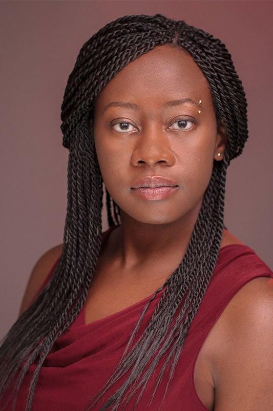 Julie Iromuanya speaks during UHV ABR Reading Series