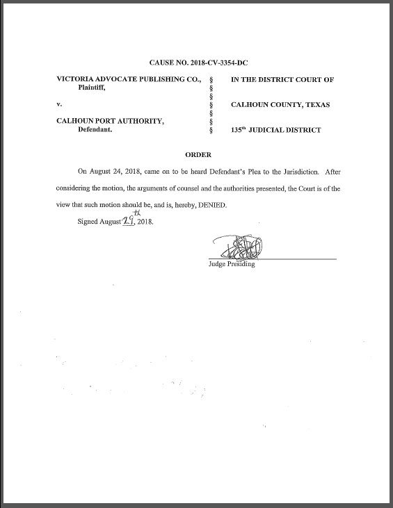 Texas open meetings act case continues