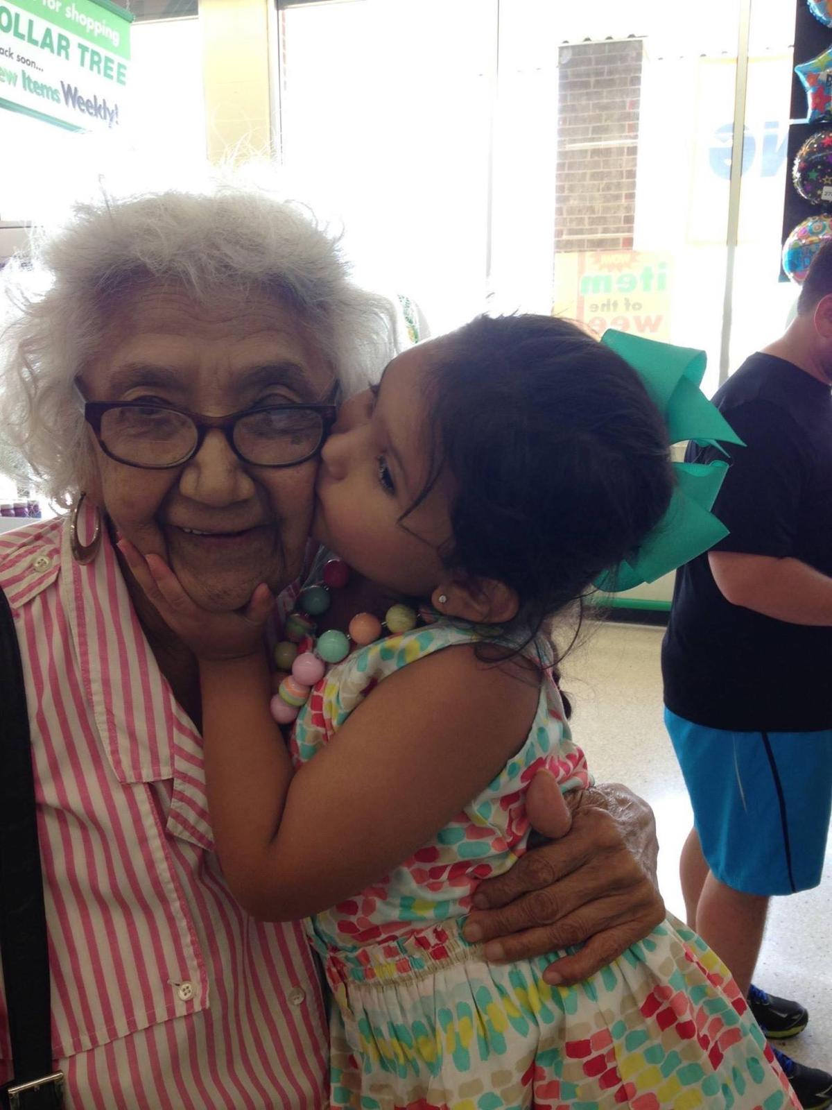 Lupe Cantu and her great-granddaughter